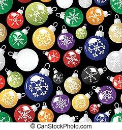 lesklý, vánoce malování, s, sněhová vločka, seamless, čerň, model, eps10
