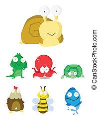 lesma, jogo, Crocodilo,  octopu,  animal