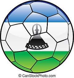 Lesotho flag on soccer ball