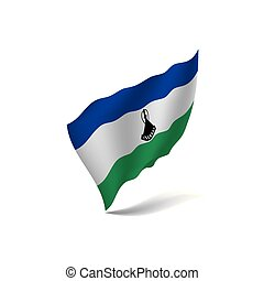Lesotho flag, vector illustration on a white background