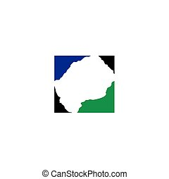 lesotho map logo icon vector symbol element