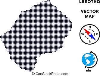 lesotho, pixelated, mappa