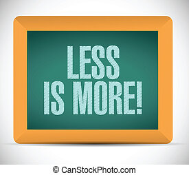 less is more message illustration design over a white ...