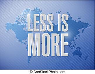 less is more world map sign concept illustration design