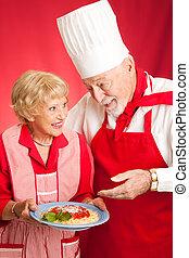 lessen, het koken, italiaanse