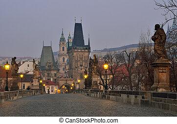 Lesser Bridge Tower of Charles Bridge in Prague (Karluv Most) the Czech Republic