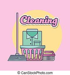 lessive, nettoyage, vêtements