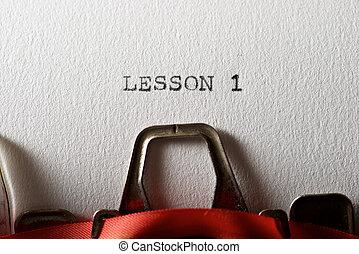 Lesson 1 concept