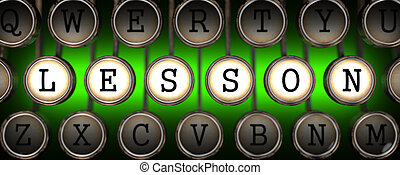Lesson on Old Typewriter's Keys. - Lesson on Old...