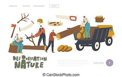 leszállás, oldal, template., felszerelés, erdőirtás, ...