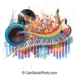 Let It be music: abstract music background