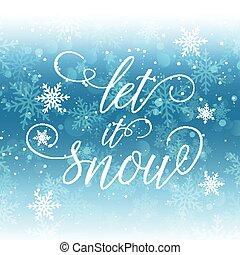 let it snow background 2810
