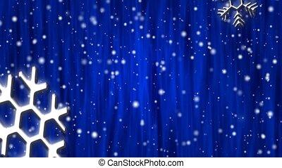 Let It Snow Cobalt Curtain HD Loop