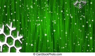 Let It Snow Emerald Curtain HD Loop