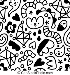 Let me doodle it for you, abstract shapes vector pattern