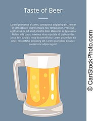 Let s Drink Beer Poster with Text and Mug of Drink