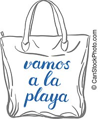 Let s go to the beach lettering. - Vamos a la playa. Let s...