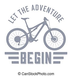 Let the Adventure Begin vector illustration with a full...