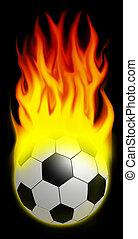 Let the games begin! - A burning soccer ball