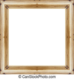 Let the old wood frame in a white background with space for text