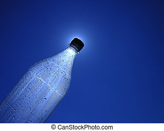 Let there be light - Bottle of water with lots of drops and...