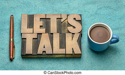Let us talk invitation with coffee