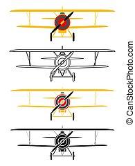 letadlo, p12, názor, čelo