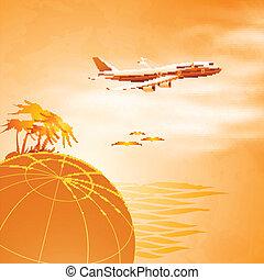 letadlo, pohybovat se