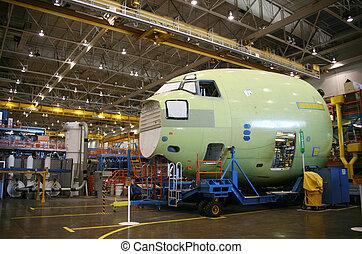 letadlo, výroba, trup letadla