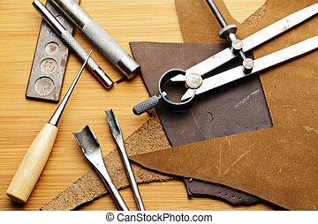 lethercraft, ferramenta, feito à mão