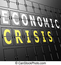 letiště, hospodářský, vystavit, krize