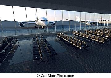 letiště.