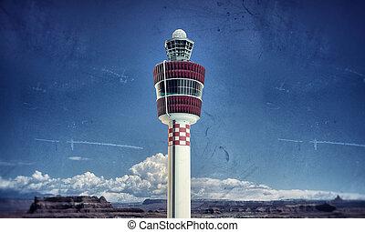 letiště, věž