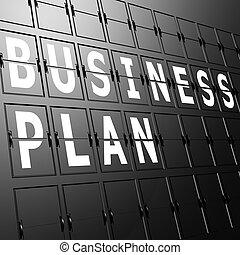 letiště, vystavit, business plan