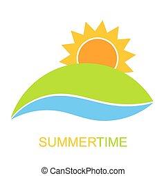 letní čas, ikona