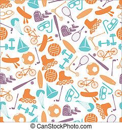 letní sporty, a, vybavení, barva, model, eps10