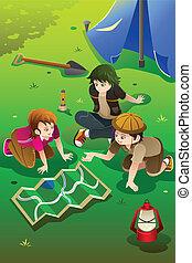 letnie dzieciska, posiadanie, obóz