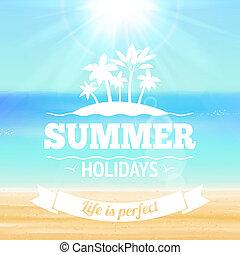 letnie wakacje, afisz