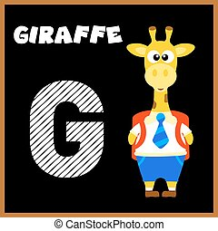 letra alfabeto, g, inglês