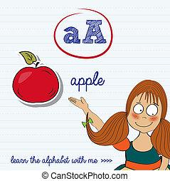 letra alfabeto, worksheet