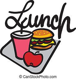 letra, almoço