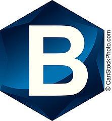 letra b, moderno