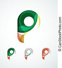 letra, companhia, logotipo