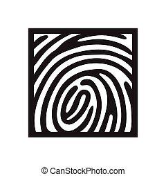 letra de dedo, icono