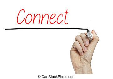 letra de mano, conectar