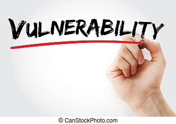 letra de mano, marcador, vulnerabilidad