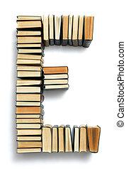 letra, formado, de, a, página, extremidades, de, livros
