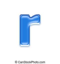 letra, -, fundo, isolado, aqua, branca, r