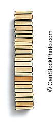 letra, i, formado, de, a, página, extremidades, de, livros