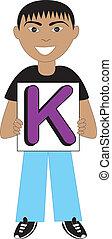 letra k, niño